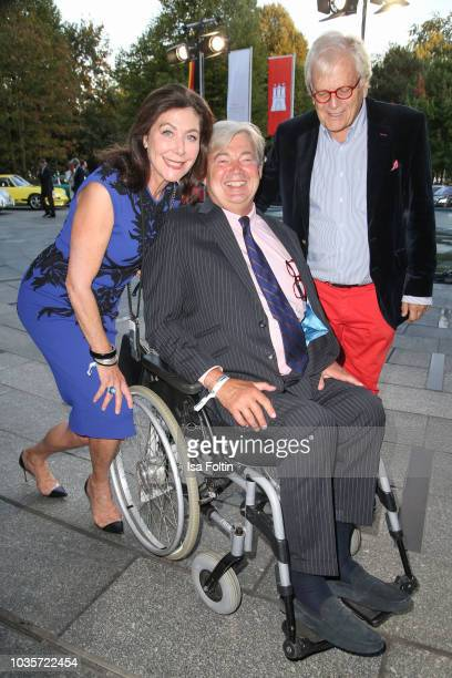 Alexandra von Rehlingen with her husband Matthias Prinz and Justus Frantz during the 70th anniversary celebration of the German Sunday newspaper WELT...