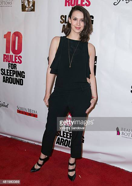Alexandra Von Renner attends the Los Angeles Premiere of 10 Rules For Sleeping Around at the Egyptian Theatre on April 1 2014 in Hollywood California