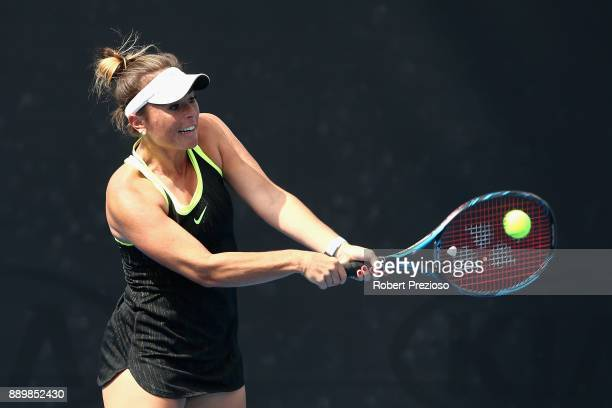 Alexandra Walters of Australia competes against Jessica Moore and Ellen Perez of Australia in her first round Australian Open December Showdown match...
