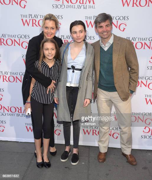 Alexandra Wentworth Elliott Anastasia Stephanopoulos Harper Andrea Stephanopoulos and George Stephanopoulos attend The Play That Goes Wrong Broadway...