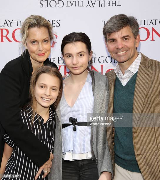 Alexandra Wentworth Elliott Anastasia Stephanopoulos Harper Andrea Stephanopoulos and George Stephanopoulos attend 'The Play That Goes Wrong'...