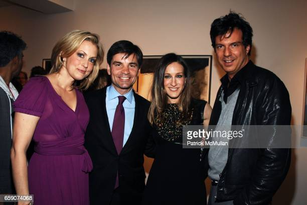 Alexandra Wentworth George Stephanopoulos Sarah Jessica Parker and Adam Glassman attend Patrica Broderick Exhibit at The Tibor de Nagy Gallery on...