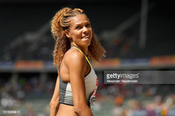 Alexandra Wester of Germany looks on as she competes in the Women's Long Jump qualification during day three of the 24th European Athletics...