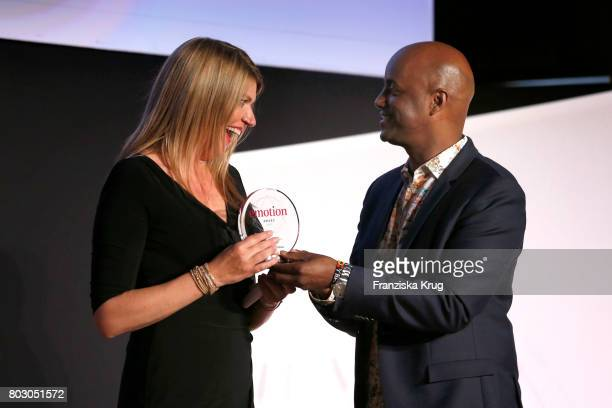 Alexandra Widmer and Yared Dibaba attend the Emotion Award at Laeiszhalle on June 28, 2017 in Hamburg, Germany.