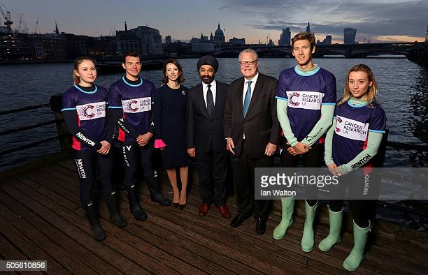 Alexandra Wood of CUWBC Henry Hoffstot of CUBC Helena Morrissey CEO of Newton Investment Management Sir Harpal S Kumar CEO of Cancer Research UK...
