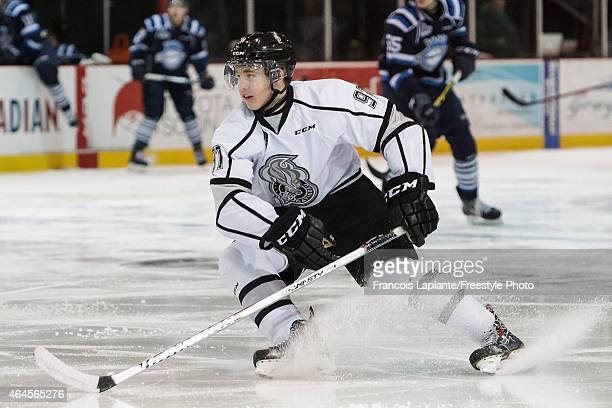 Alexandre Alain of the Gatineau Olympiques skates against the Chicoutimi Sagueneens during a game on February 20, 2015 at Robert Guertin Arena in...