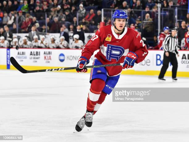 Alexandre Alain of the Laval Rocket skates against the Cleveland Monsters during the AHL game at Place Bell on January 18 2019 in Laval Quebec Canada...
