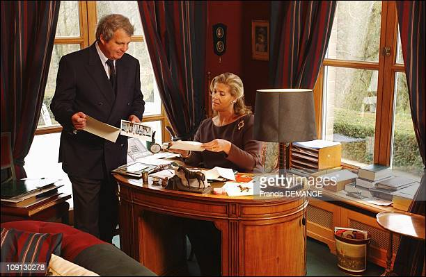 Alexandre And Lea Of Belgium At Home Near Brussels On December 16 2004 In Brussels Belgium Alexandre And Lea In The Study Of The Princess