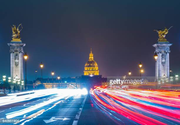 pont alexandre and les invalides - les invalides quarter stock photos and pictures