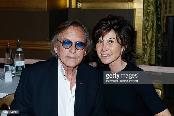 Alexandre Arcady and Sylvie Rousseau attend 'Vaincre Le Cancer' Charity Gala Night at Opera Garnier on July 10 2016 in Paris France