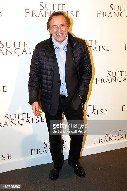 Alexandre Arcady attends the world premiere of 'Suite Francaise' at Cinema UGC Normandie on March 10 2015 in Paris France