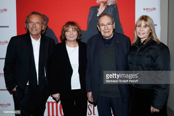 Alexandre Arcady Director of the movie Diane Kurys director Robert Hossein and his wife Candice Patou attend the Ma mere est folle Private Projection...