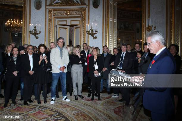 Alexandre Arcady Sylvie Rousseau Dominique Desseigne Xavier Darcos and Gilbert Coullier attend Gilbert Coullier Receives The Officer's insignia of...