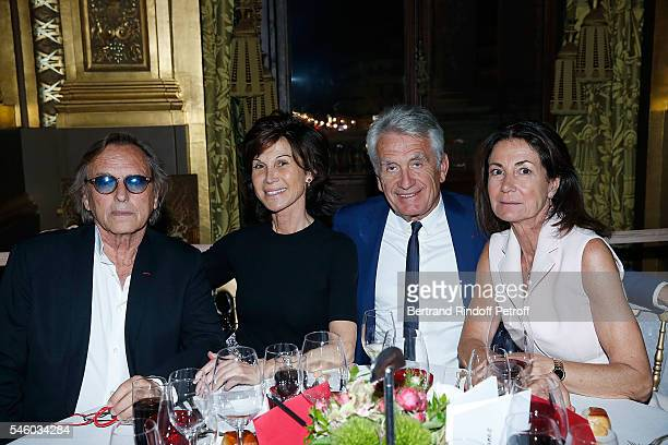 Alexandre Arcady Sylvie Rousseau Gilbert Coullier and Valerie Breton attend 'Vaincre Le Cancer' Charity Gala Night at Opera Garnier on July 10 2016...