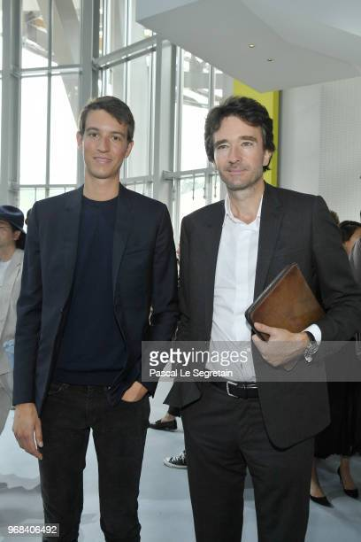 Alexandre Arnault and Antoine Arnault attend the LVMH Prize 2018 Edition at Fondation Louis Vuitton on June 6 2018 in Paris France
