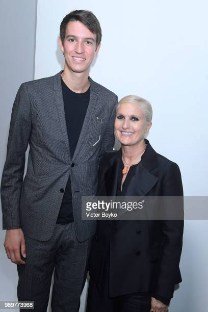 Alexandre Arnault and designer Maria Grazia Chiuri attend the Christian Dior Haute Couture Fall Winter 2018/2019 show as part of Paris Fashion Week...
