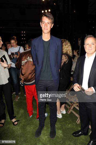 Alexandre Arnault and Louis Vuitton CEO Michael Burke attend the OffWhite Menswear Spring/Summer 2019 show as part of Paris Fashion Week on June 20...