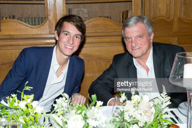 Alexandre Arnault and Sidney Toledano attend dinner hosted by Rimowa Alexandre Arnault to celebrate the 80th Anniversary of Rimowa's iconic aluminium...