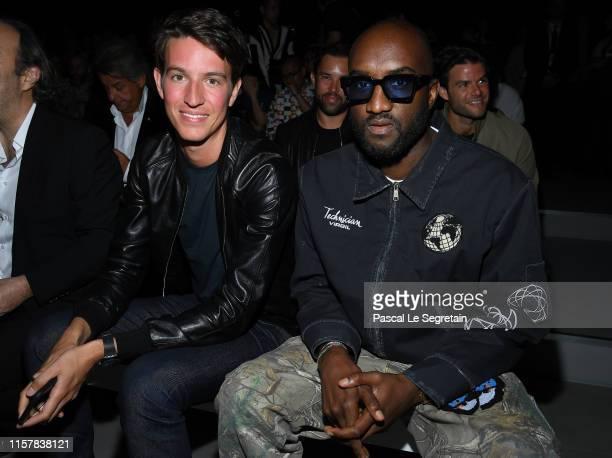 Alexandre Arnault and Virgil Abloh attend the Celine Spring Summer 2020 show as part of Paris Fashion Week on June 23, 2019 in Paris, France.