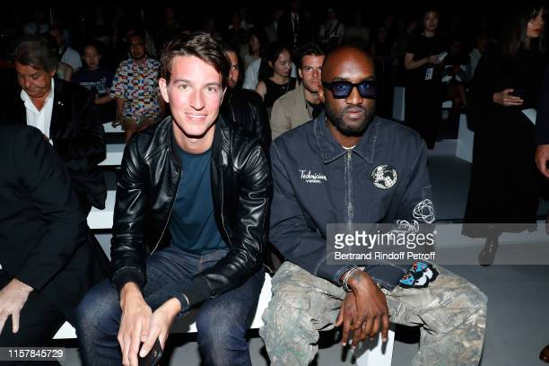 Alexandre Arnault and Virgil Abloh attend the Celine Spring Summer 2020 show as part of Paris Fashion Week on June 23, 2019 in Paris, France.