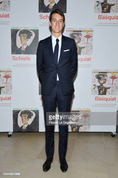 Alexandre Arnault attends the Opening Of The New Exhibitions JeanMichel Basquiat And Egon Schiele At The Fondation Louis Vuitton at Fondation Louis...