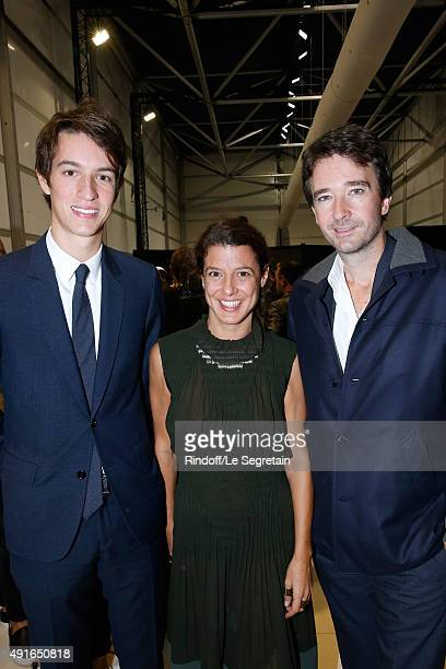 Alexandre Arnault Camille Miceli and General manager of Berluti Antoine Arnault attend the Louis Vuitton show as part of the Paris Fashion Week...