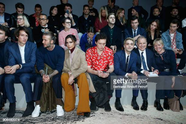 Alexandre Arnault David Beckham Victoria Beckham their son Brooklyn Beckham Xavier Dolan CEO of Louis Vuitton Michael Burke and his wife Brigitte...