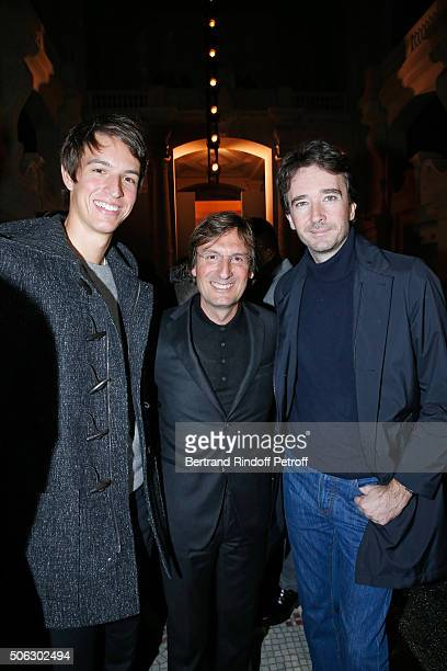 Alexandre Arnault General Director of Berluti Pietro Beccari and General manager of Berluti Antoine Arnault attend the Berluti Menswear Fall/Winter...