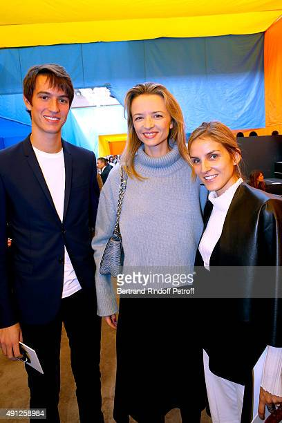 Alexandre Arnault Louis Vuitton's executive vice president Delphine Arnault and Gaia Repossi attend the Celine show as part of the Paris Fashion Week...