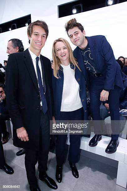Alexandre Arnault Louis Vuitton's executive vice president Delphine Arnault and Actor and Director Xavier Dolan attend the Louis Vuitton Menswear...