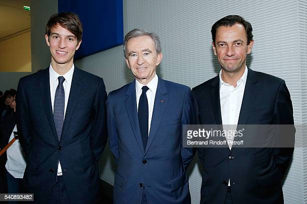 Alexandre Arnault PDg of LVMH Bernard Arnault and PDG of LVMH Fashion Group PierreYves Roussel attend the LVMH Prize 2016 Young Fashion Designer at...