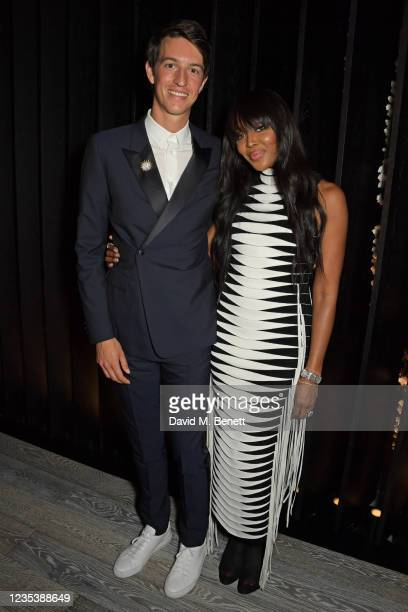 Alexandre Arnault, Tiffany & Co EVP of Products and Communication, and Naomi Campbell attend an intimate dinner and party hosted by British Vogue and...