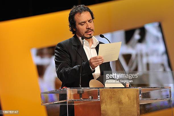 Alexandre Astier speaks on stage during the 37th Cesar Film Awards at Theatre du Chatelet on February 24 2012 in Paris France