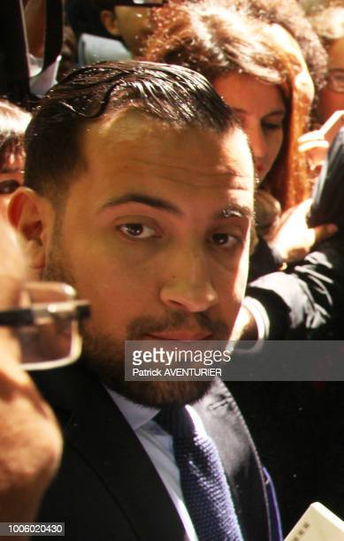 Alexandre Benalla attends a ceremony at the Luxembourg Gardens to mark the abolition of slavery and to pay tribute to the victims of the slave trade...