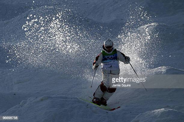 Alexandre Bilodeau of Canada on the qualification run during the Freestyle Skiing Men's Moguls on day 3 of the 2010 Winter Olympics at Cypress...