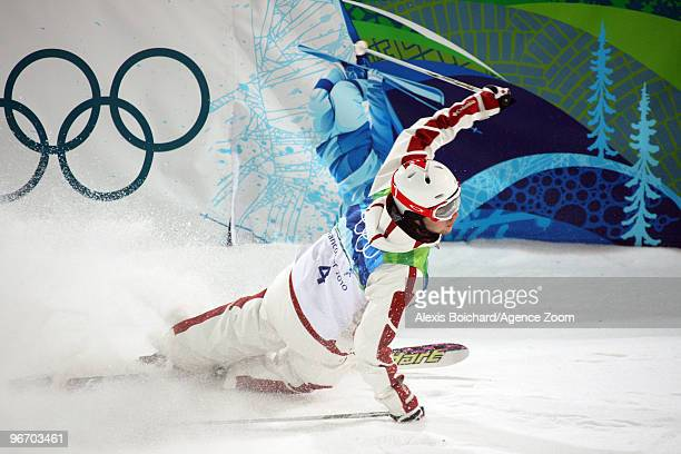 Alexandre Bilodeau of Canada takes 1st place during the Men's Freestyle Skiing Moguls on Day 3 of the 2010 Vancouver Winter Olympic Games on February...