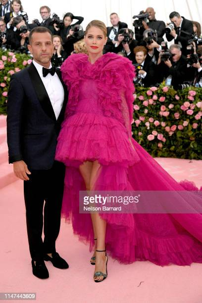 Alexandre Birman and Doutzen Kroes attend The 2019 Met Gala Celebrating Camp Notes on Fashion at Metropolitan Museum of Art on May 06 2019 in New...