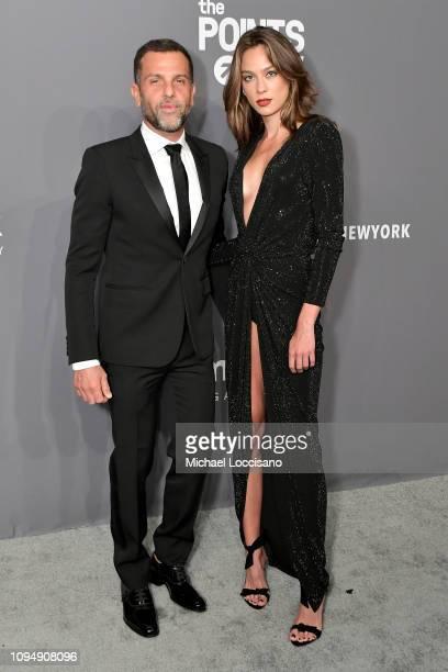 Alexandre Birman and Elen Capri attend the amfAR New York Gala 2019 at Cipriani Wall Street on February 6 2019 in New York City