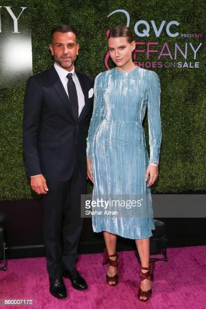 Alexandre Birman and Johana Birman attend 2017 FFANY Shoes On Sale Gala on October 10 2017 in New York City