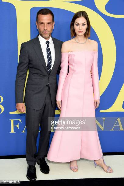 Alexandre Birman and Laura Love attend the 2018 CFDA Fashion Awards at Brooklyn Museum on June 4 2018 in New York City