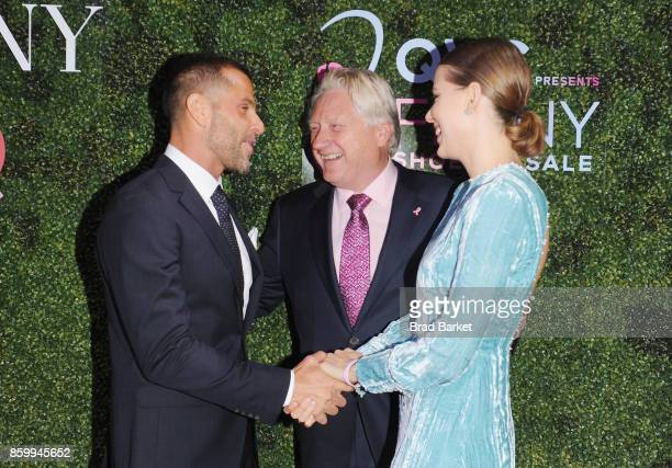 Alexandre Birman President CEO of FFANY Ron Fromm and Johana Birman attend the Annual QVC presents 'FFANY Shoes On Sale' Gala at The Ziegfeld...