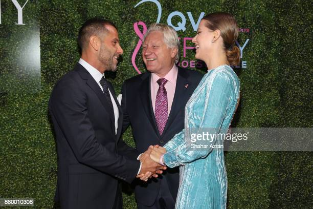 Alexandre Birman President CEO of FFANY Ron Fromm and Johana Birman attend 2017 FFANY Shoes On Sale Gala on October 10 2017 in New York City