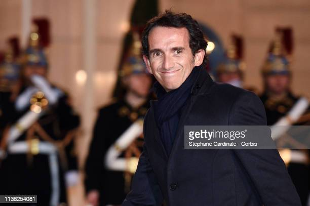 Alexandre Bompard arrives at a state dinner with French President Emmanuel Macron and Chinese President Xi Jinping at the Elysee Presidential Palace...