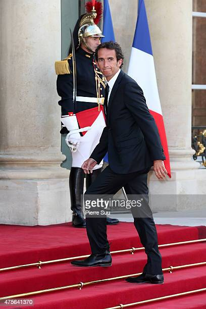 Alexandre Bompard attends a state dinner in Honnor of King Felipe VI and Queen Letizia of Spain at the Elysee Palace on June 2 2015 in Paris France