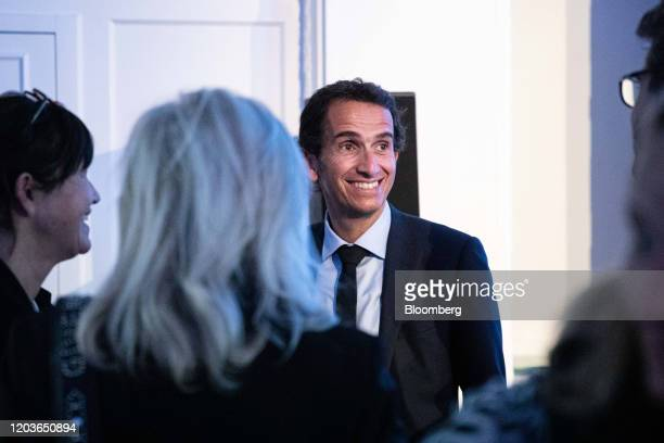 Alexandre Bompard chief executive officer of Carrefour SA reacts at the end of the retailer's full year earnings news conference in Paris France on...