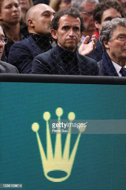 Alexandre Bompard is seen during day four of the Rolex Paris Masters on November 1 2018 in Paris France