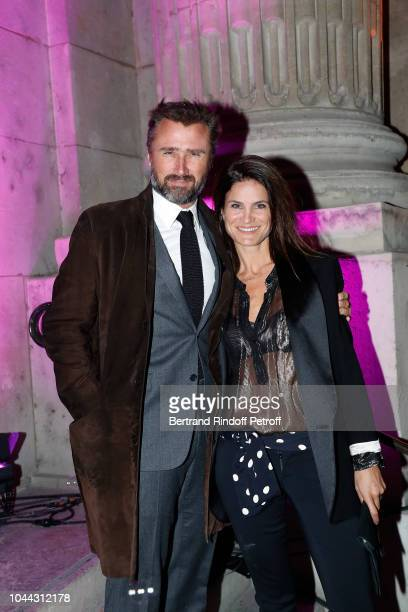 Alexandre Brasseur and his wife Juliette Brasseur attend the Avon Life Colour Party By Kenzo Takada as part of the Paris Fashion Week Womenswear...