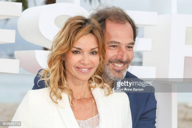 Alexandre Brasseur and Ingrid Chauvin attend photocall for 'Demain nous appartient' during the 1st Cannes International Series Festival on April 9...