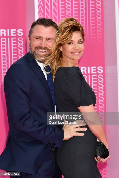 Alexandre Brasseur and Ingrid Chauvin attends Killing Eve and When Heroes Fly screening during the 1st Cannes International Series Festival at Palais...