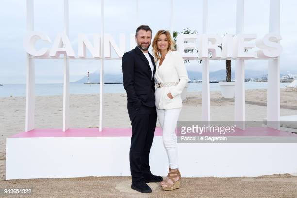 Alexandre Brasseur and Ingrid Chauvin from the serie Demain nous appartient attend a photocall during the 1st Cannes International Series Festival on...